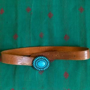 Lucky Brand Belt with Turquoise Buckle